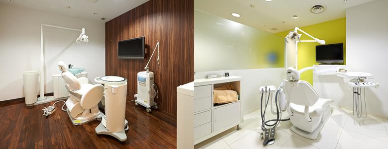 完全個室の環境で診療